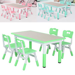 Kids Desk and Chairs Set Height Adjustable Childen Study Play Table w Storager $119.99