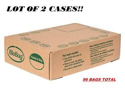 LOT of 2 BioBag Compostable Table Kitchen Food Scrap Bags 13 Gallon 96 BAGS $23.99