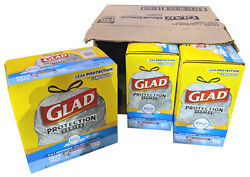 LOT OF 3 Glad ForceFlex Tall Kitchen Drawstring Trash Bags 13 Gal 110 Count $22.39