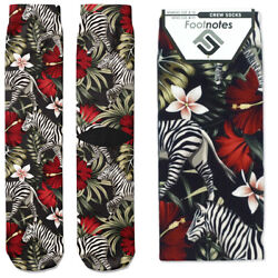 Zebras Crew Socks Footnotes Novelty Socks $12.00