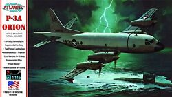 US Navy P3A Orion Aircraft 13quot; 1 115 Scale Plastic Model Kit Atlantis Models $28.00