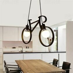 Creative Bicycle Pendant Light Retro Iron Living Room Bar Kitchen Hanging Lamps $44.07
