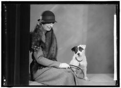 Reproduced 1933 Photo Foote Walter A Mrs Portrait With Dog z $32.50