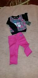 BABY GIRL#x27;S 2 PC ENYCE PINK MULTI COLORED BLACK OUTFIT PANTSET SIZE 18 MONTHS $13.00