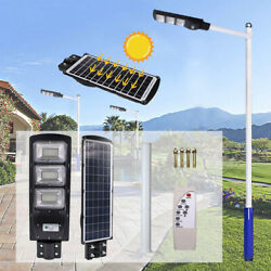 90W180LED Outdoor Commercial LED Solar Street Light Dusk to Dawn PIR Sensor Lamp
