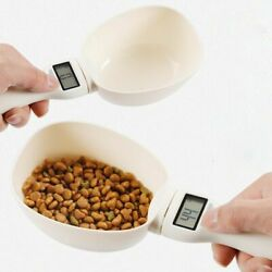 Pet Dog Food Scoop Scale Scooper Measuring Spoon Feeding Bowl Cats Led Display $34.99