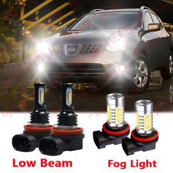 For Nissan Rouge 2009 2019 4x LED Conversion Kit Lights Combo Low Beam Fog $25.73