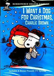 New DVD I WANT A DOG FOR CHRISTMAS CHARLIE BROWN REMASTERED DELUXE EDITION C $14.99