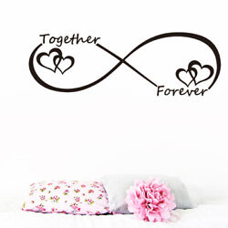 LOVE Heart Together Forever Bedroom Wall Sticker For Home Decoration Wall Decal $4.99