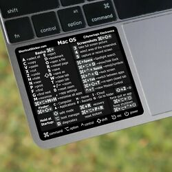 Apple MacBook Reference Guide Shortcut Sticker Mac OS X For Any Mac $4.99