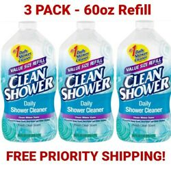 Clean Shower Daily Shower Cleaner Refill 60oz 3 Pack Free Priority Shipping $39.95