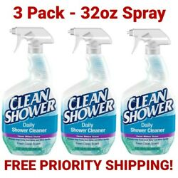 Scrub Free Clean Shower Daily Shower Cleaner 3 Pack 32oz Spray Free Shipping $28.95