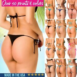 Teeny Thong tie side BOTTOM woman swimwear beach bikini swimsuit COQUETA sexy US $18.99
