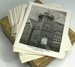 Set of 6 Vtg LITHO by Spalding Note Cards Central Christian Church Coshocton OH $14.49