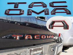 Double Layer Tailgate Letters fits 2016 2020 Toyota Tacoma Black Fiber Red $42.89