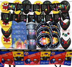 AMONG US balloon Cupcake Topper Party Decoration Supplies SPACE banner ALIEN CUP $4.99