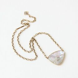 Kendra Scott Mckenna Vintage Gold Pendant Necklace in White Abalone $22.99