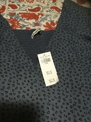 Abercrombie amp; Fitch Gorgeous Blue Dress with Short Sleeves size Large NWT NEW $22.00