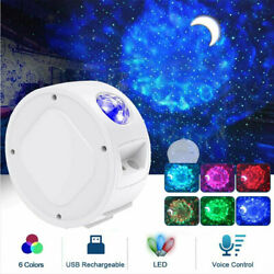 LED Galaxy Starry Sky Projector Night Light Ocean Wave Star Moon Room Decor Lamp $27.99