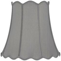 Morell Gray Scallop Bell Lamp Shade 10x16x16 Spider $39.99
