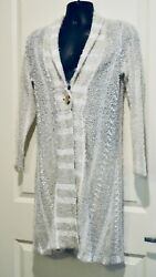 Richard Kitchen Canada Acrylic Eyelash Long Cardigan M L $17.99
