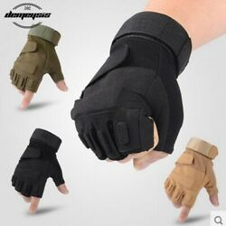 Men Tactical Gloves Fingerless Military Airsoft Gloves for Combat Hunting Hiking $12.99