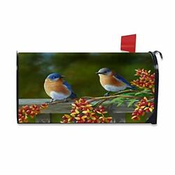 Mailbox Covers Bird Magnetic Mailbox Wraps Post Letter Box Cover Standard Size $20.59