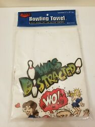 Vintage Master 11x18 Novelty Bowling Towel New Old Stock Made In USA $18.99
