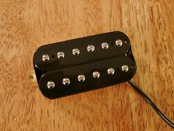 HIGH OUTPUT BRIDGE HUMBUCKER BLACK 12 ADJUSTABLE POLES FOUR CONDUCTOR WIRES $21.99
