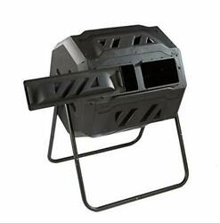 Twin Chamber Rotating Compost Bin Dual Chamber Rolling Compost Tumbler with... $116.85