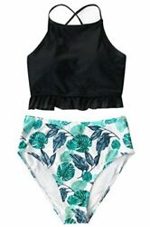 CUPSHE Women's Lingering Charm High Waisted Bikini Multi Color Size XX Large $12.58