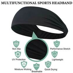 Mens Headband Sweatband Stretch Sweat Elastic Sport Yoga Runing Solid Hairband $6.99