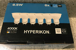 Hyperikon LED MR16 GU10 Dimmable Spot Light 40 Degree Angle 4000K 6.5W NEW
