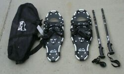 Alps Adult All Terrain Snowshoes 27quot; Pair Anti Shock Adjustable poles Bag $59.95