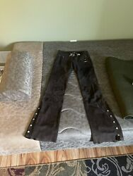 Brown Soft Suede Leather Tod's Riding Pants sz 40. US S 4 $350.00