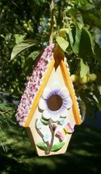 COTTAGE BIRD HOUSE DECORATIVE OUTDOOR RESIN MATERIAL