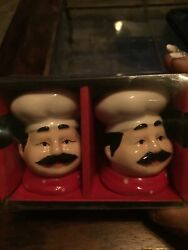 New Fat chef kitchen decor Salt amp; pepper Shakers Quality Set Free Shipping $23.00