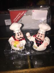 New Fat chef kitchen decor Salt amp; pepper Shakers Quality Set Free Shipping $20.00
