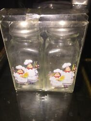 New Fat chef kitchen decor Salt amp; pepper Shakers Quality Glass Free Shipping $20.00