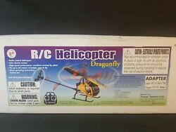 RARE Fly Dragonfly Yellow R C REMOTE Helicopter COMPLETE ORIGINAL BOX Toyco $109.99