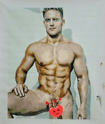 A New Friend naked gay guy art décor wall Oil Painting $150.00