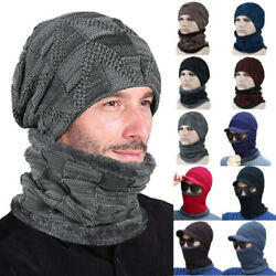 Men Slouth Beanie Hat Snood Neck Ear Winter Casual Plain Thick Fleece Chunky Cap $10.82