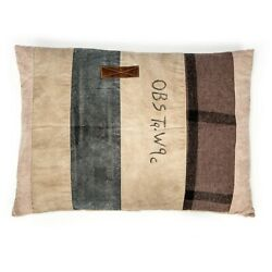 The Barrel Shack The Twister Large Handmade Goat Leather Floor Couch Sofa Pillow $150.00