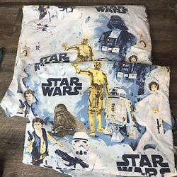 Pottery Barn Kids Star Wars Retro Cotton Twin Fitted Sheet and Flat Sheet $39.99
