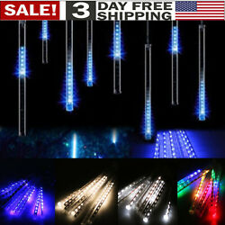 30cm 144 LED Lights Meteor Shower Rain 8 Tube Xmas Snowfall Tree Outdoor Light Y