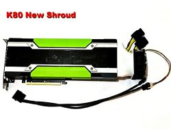 GPU Cooler with High speed Fan for Nvidia Tesla K80 P100 V100 Long shroud $24.99