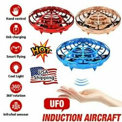 Hand Operated Mini Drones for 6 7 8 9 10 Years Old Kids Hands Free Flying UFO $12.55