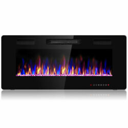 Heater Multicolor Flame 42quot; Electric Fireplace Recessed Ultra Thin Wall Mounted $39.99