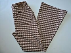 Women#x27;s Lee Vintage Modern Houndstooth High Rise Flare Leg Jeans 29 NWT $34.99