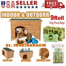 Dog House Outdoor for Small to Large Weatherproof Wooden Houses Pet Gift NEW T